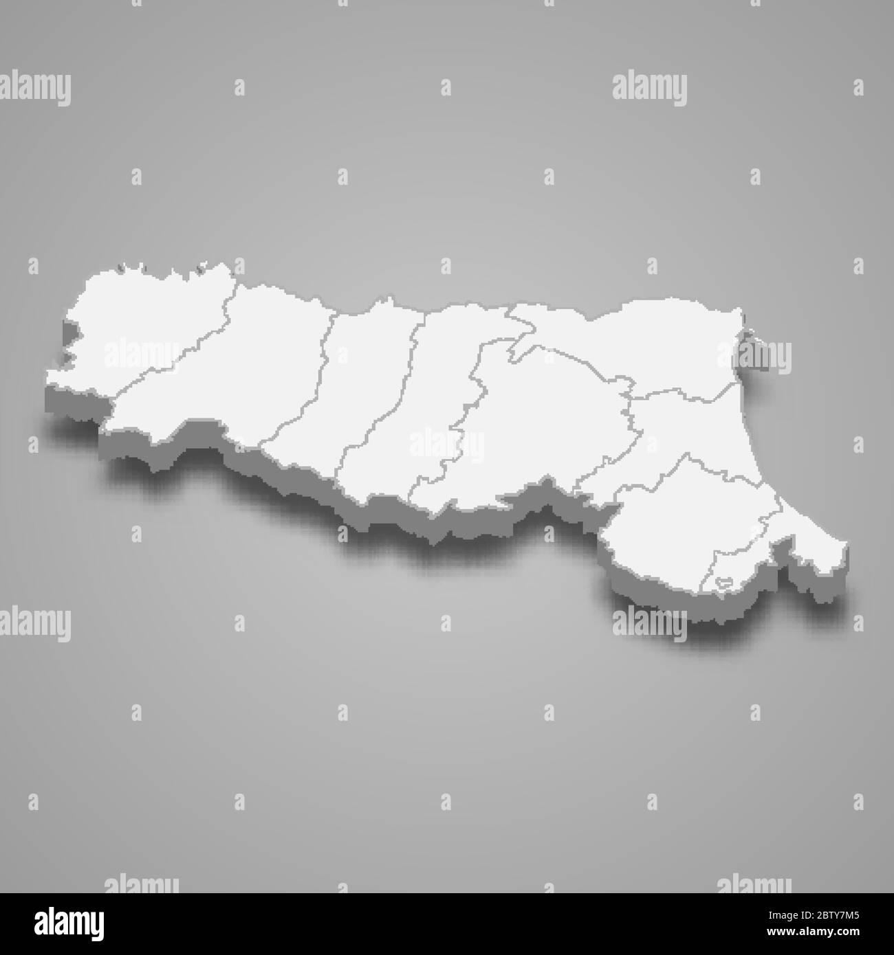 Cartina Topografica Emilia Romagna.Emilia Romagna Map High Resolution Stock Photography And Images Alamy