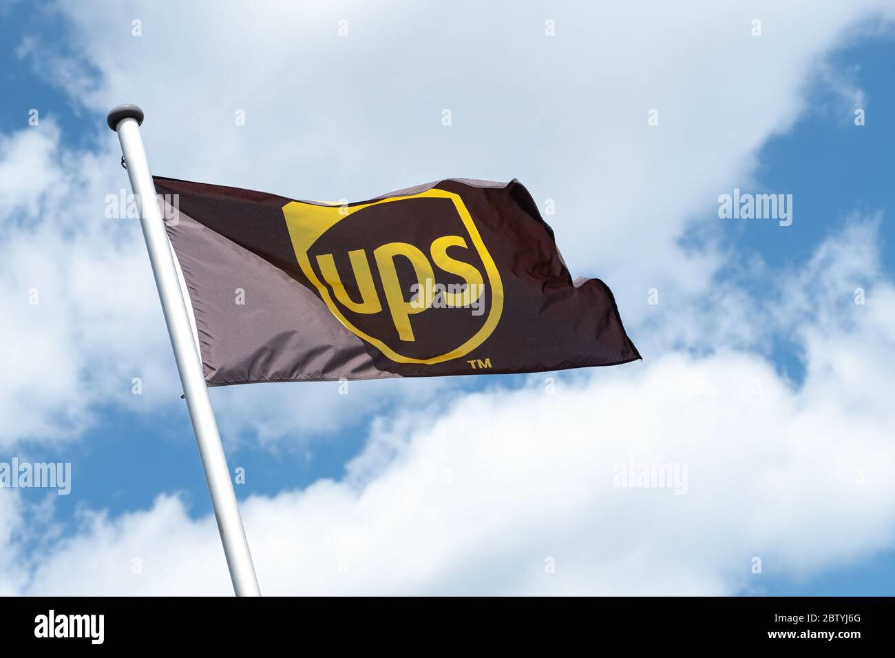 Langenhagen Germany 28th May 2020 The Logo Of The Postal Service Provider Ups Can Be Seen