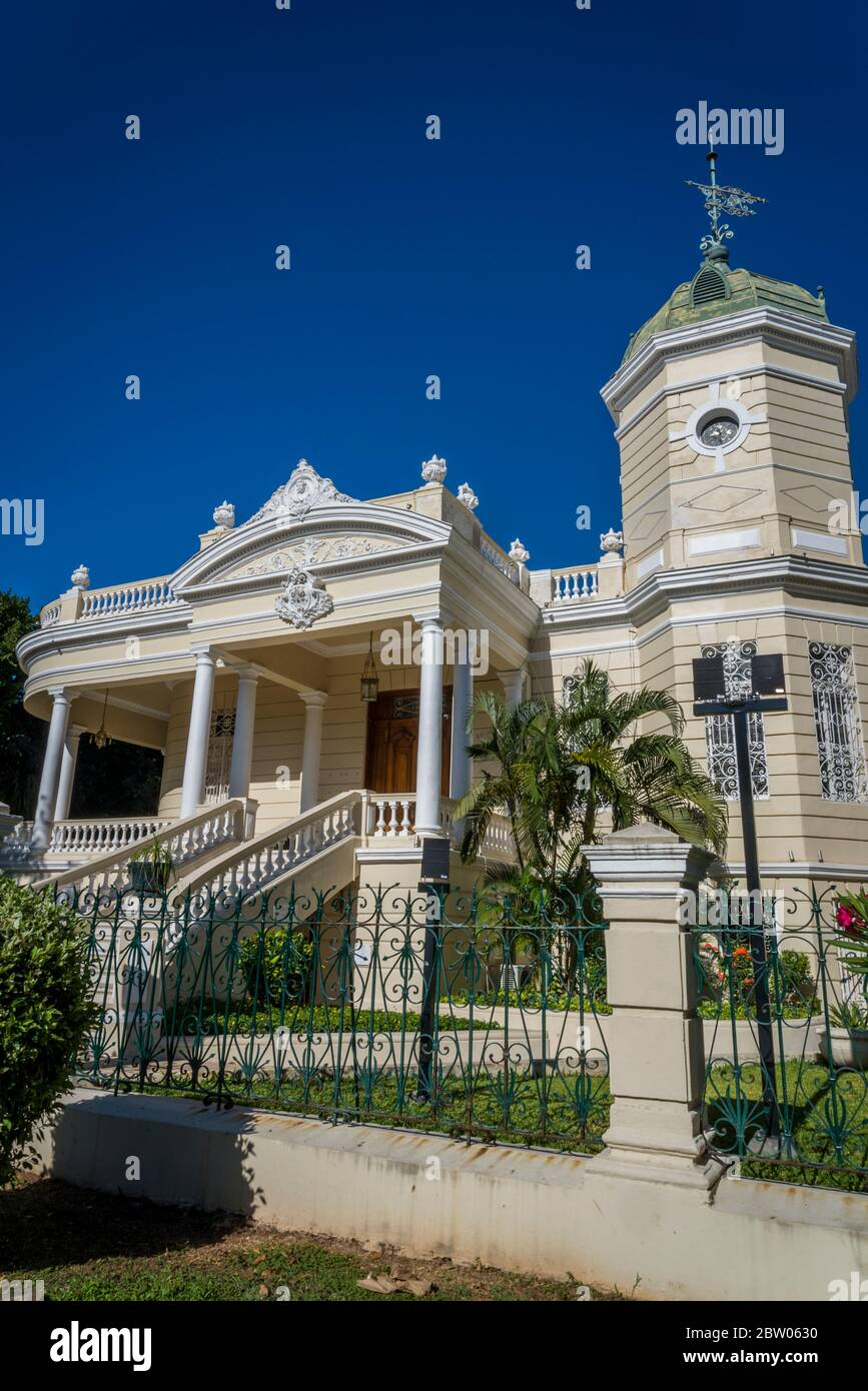Casa Museo Montes Molina, a restored 1902 mansion with European furniture, at the Paseo de Montejo, Merida, Yucatan, Mexico Stock Photo