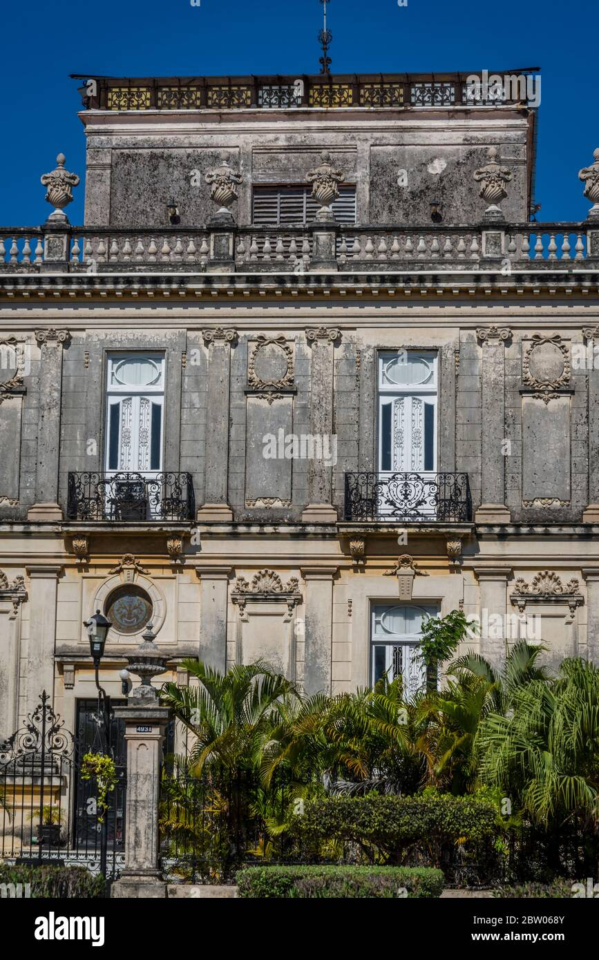 One of the famous Twin Mansions at the Paseo de Montejo - a famous 19th century avenue modelled on the French boulevard, Merida, Yucatan, Mexico Stock Photo