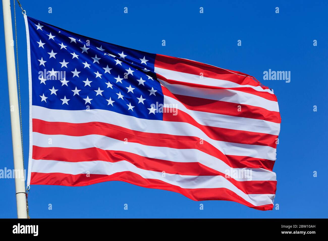 National Flag of the United States Stock Photo