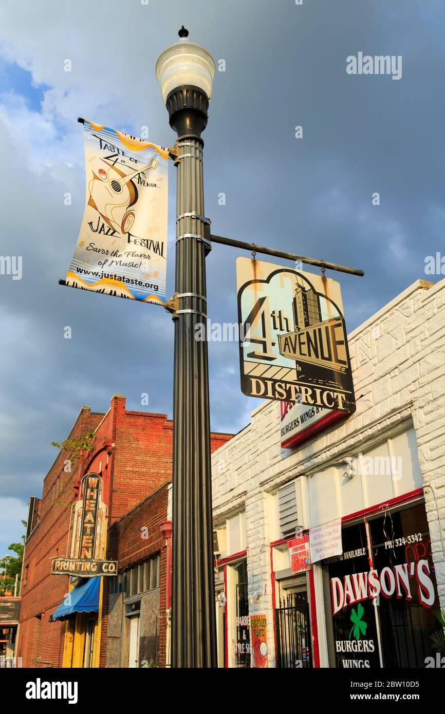 Historic 4th Avenue District,Birmingham,Alabama,USA Stock Photo