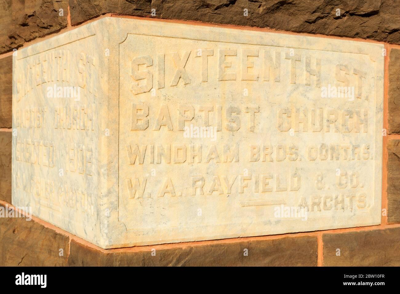 Sixteenth Street Baptist Church,Birmingham,Alabama,USA Stock Photo