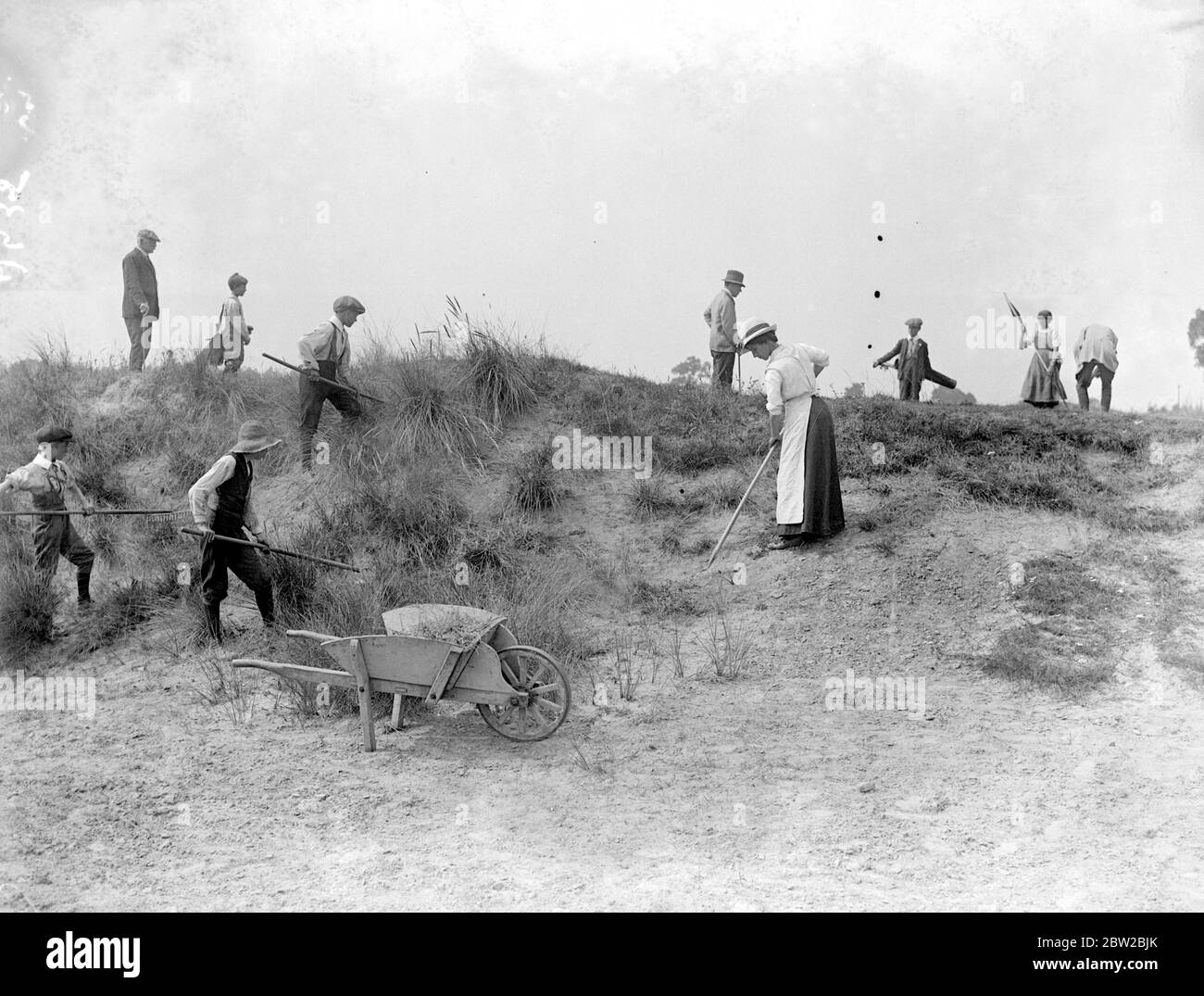 Sandy Lodge Golf Course in war time. 10 July 1916 Stock Photo