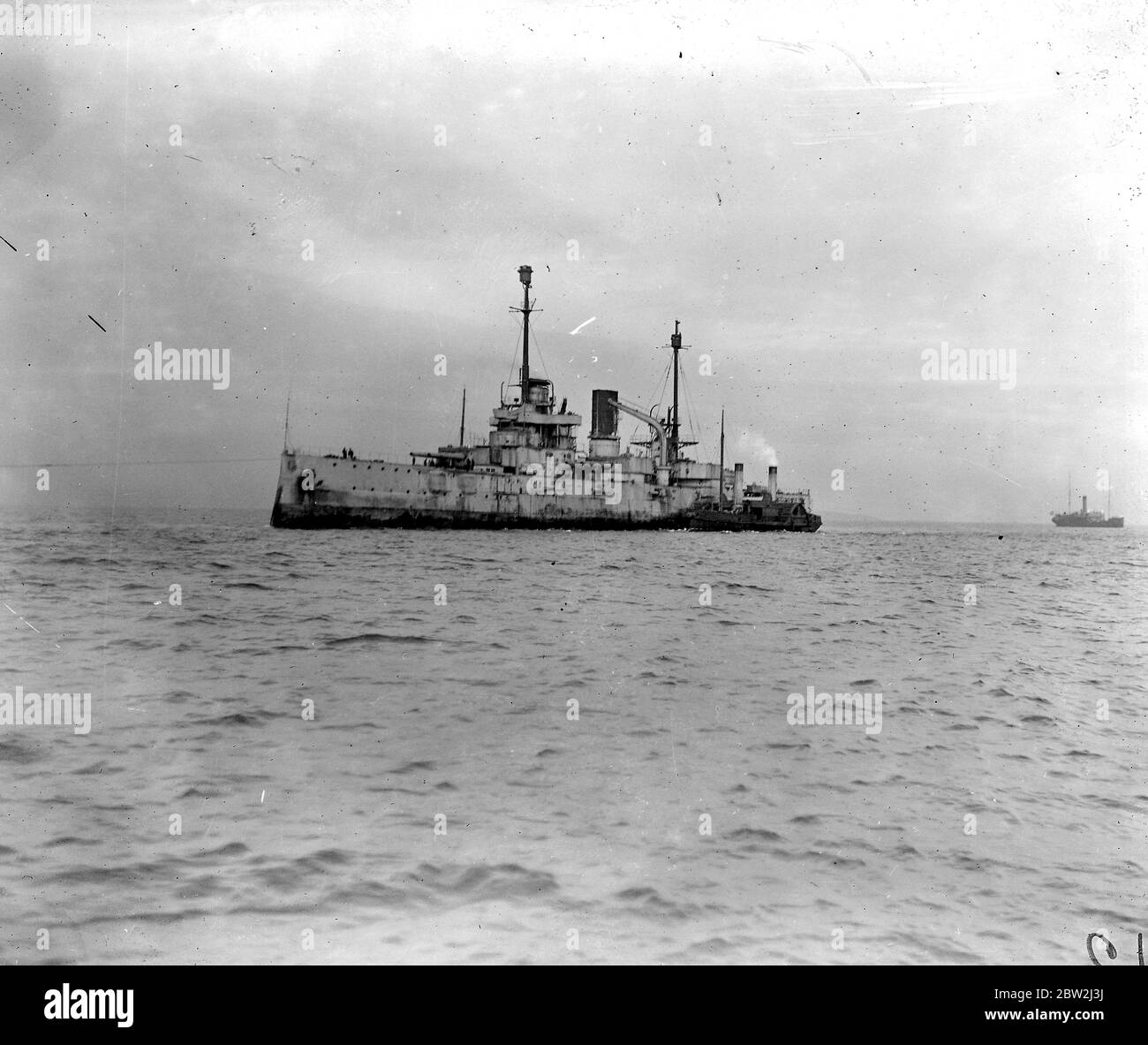 Surrender of German Warships in Firth of Forth. 14th May 1920 Stock Photo