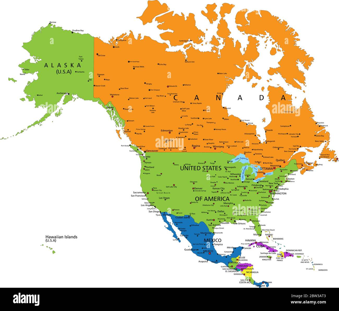 Picture of: North America Map High Resolution Stock Photography And Images Alamy