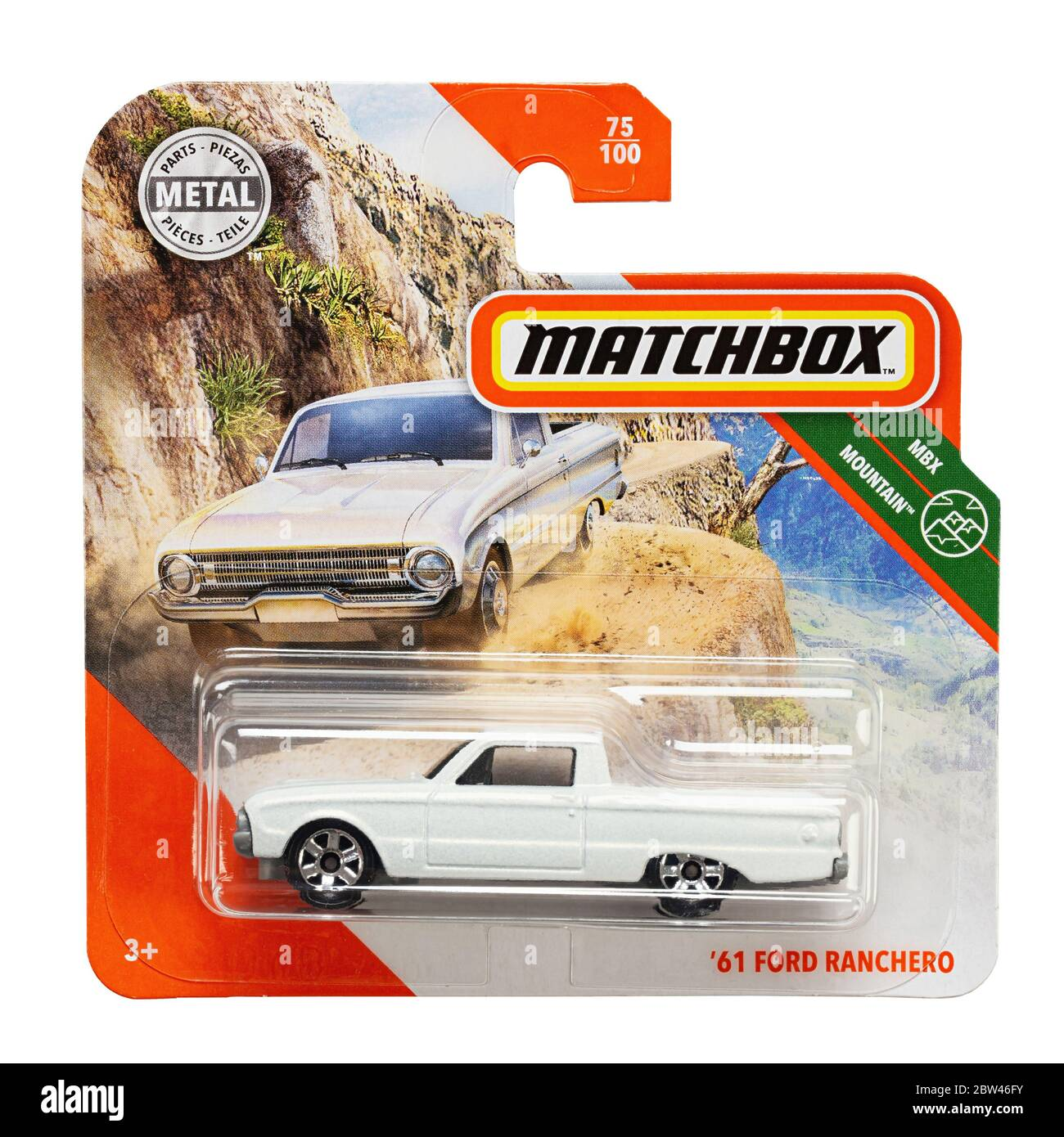 Ukraine, Kyiv - may 19. 2020:Toy car model 61 Ford Ranchero. Matchbox is a popular British toy brand that was introduced by Lesney Products in 1953 an Stock Photo