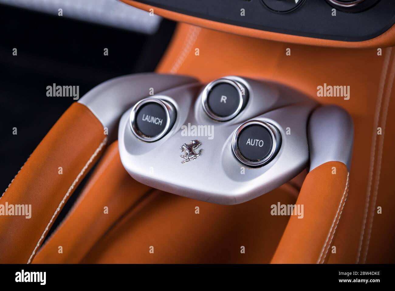 Ferrari Automatic Transmission Buttons Stock Photo Alamy