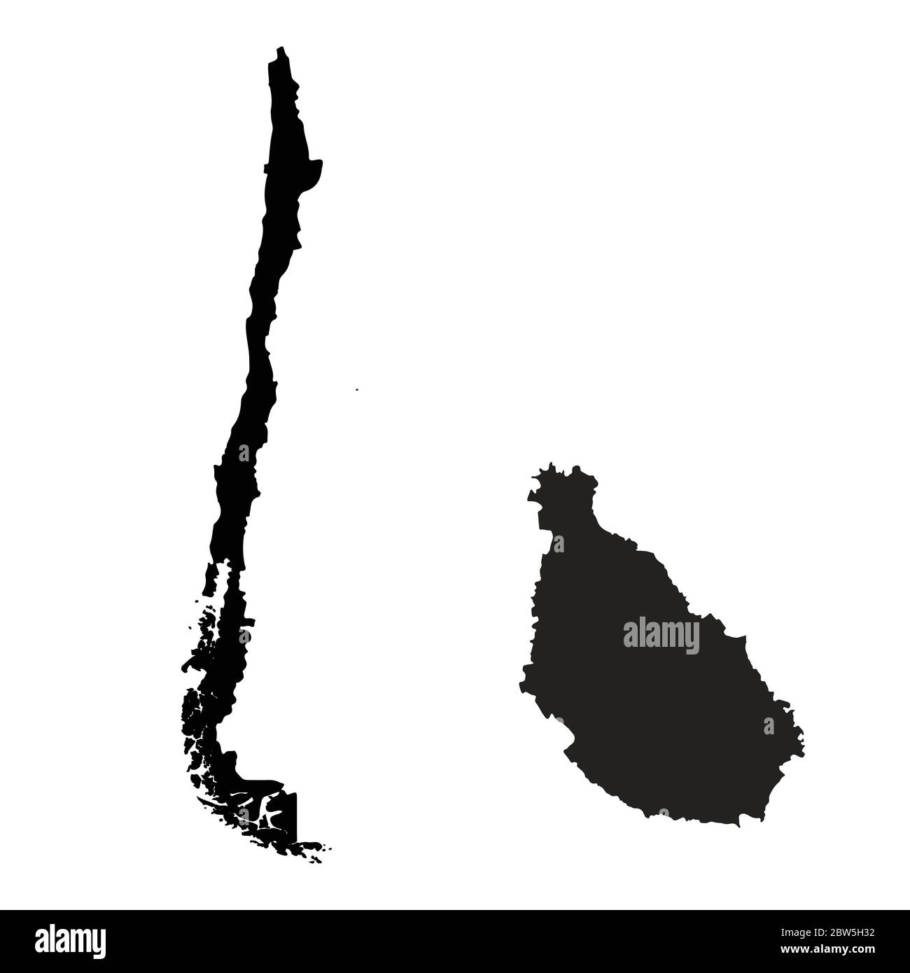 Vector Map Chile And Santiago Country And Capital Isolated Vector Illustration Black On White Background Eps 10 Illustration Stock Vector Image Art Alamy
