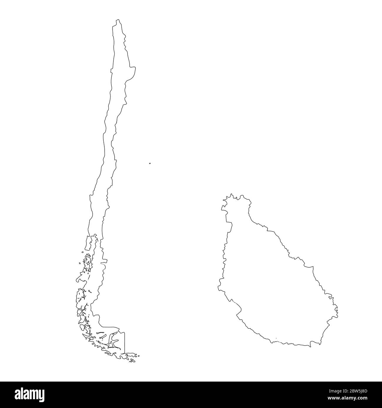 Vector Map Chile And Santiago Country And Capital Isolated Vector Illustration Outline Eps 10 Illustration Stock Vector Image Art Alamy