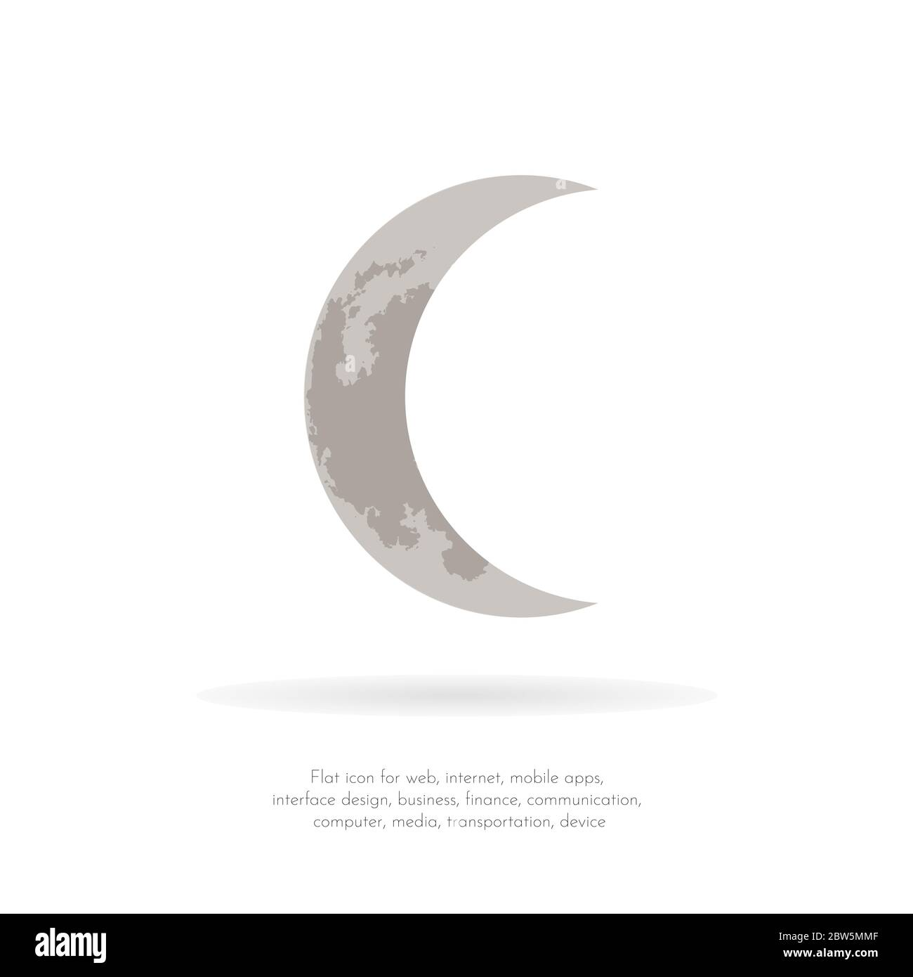 crescent moon vector illustration stock vector image art alamy alamy