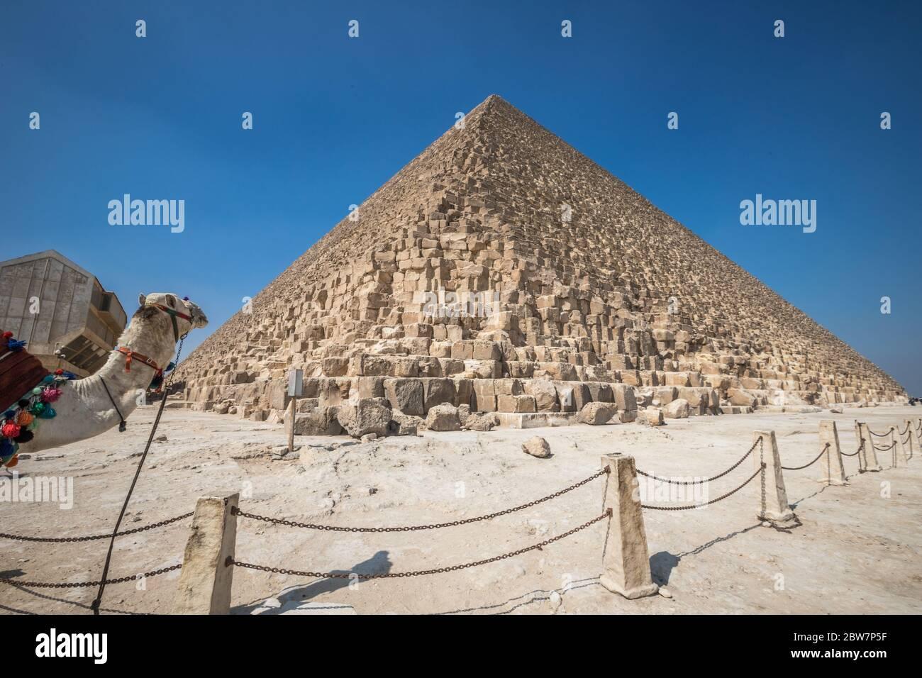 View of Egyptian Pyramids Stock Photo