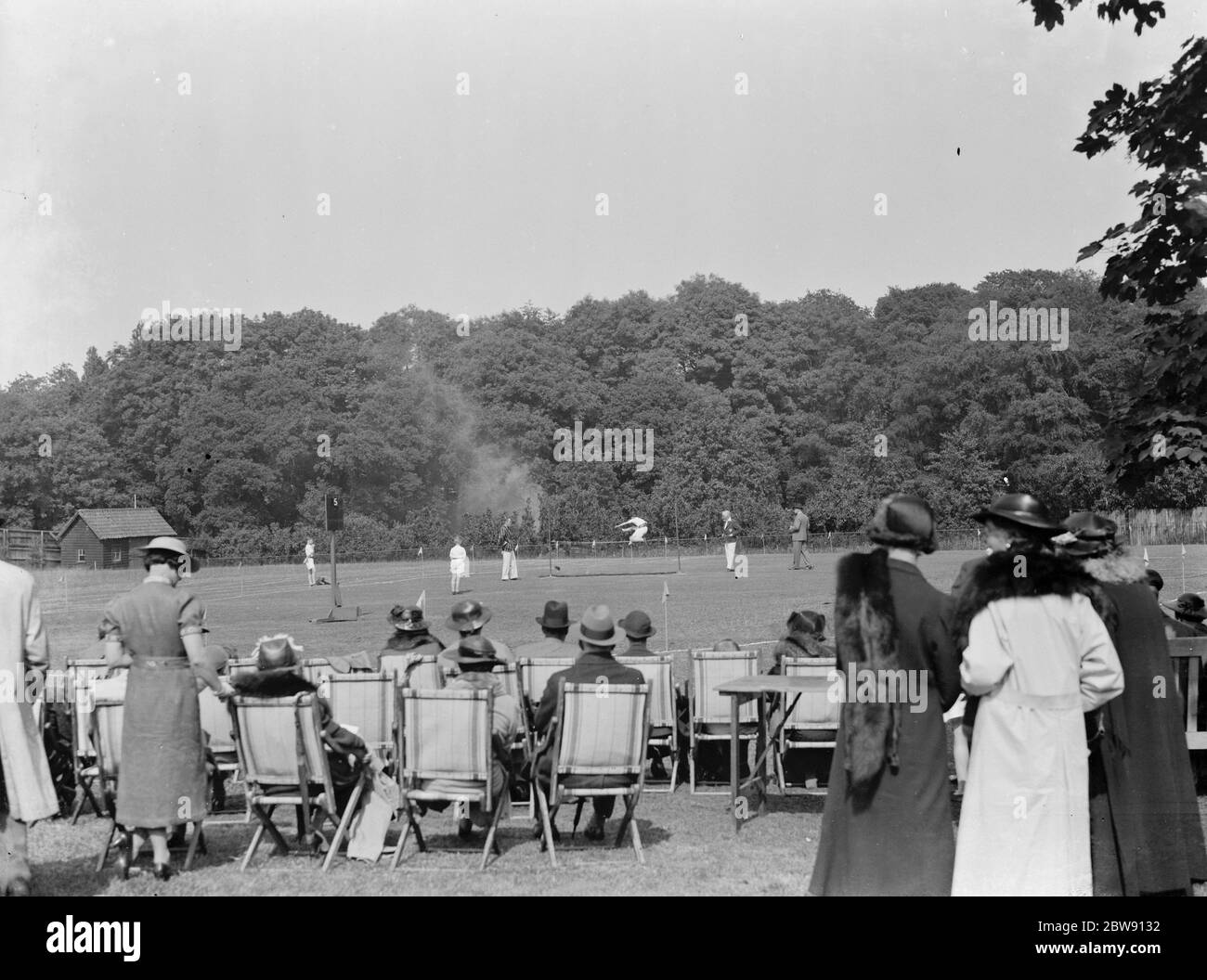 Sports at Pennthorpe School in Chislehurst , Kent . Pupils compete in the high jump . 1937 Stock Photo