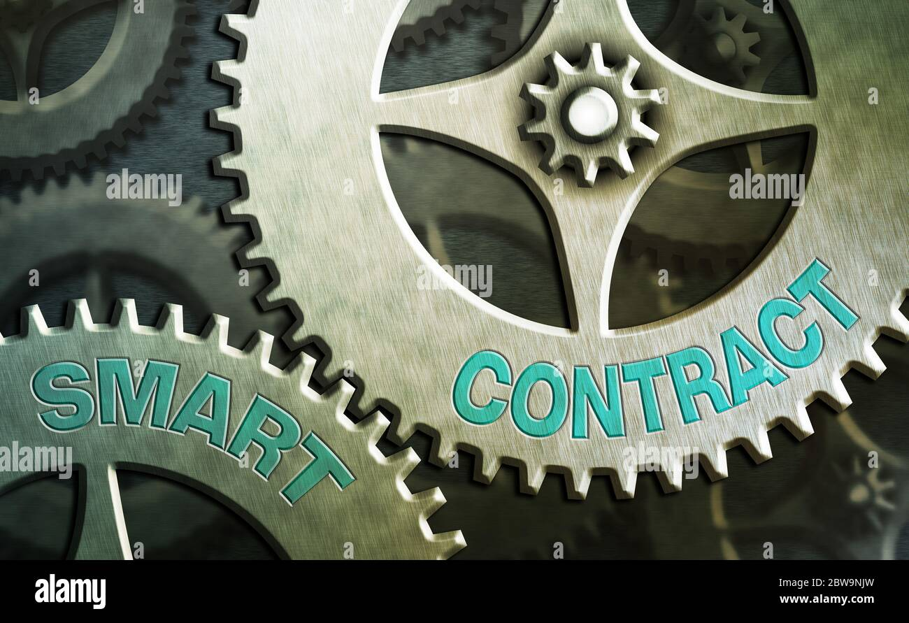 Handwriting text writing Smart Contract. Conceptual photo digital agreement to control the transfer of digital currencies Stock Photo