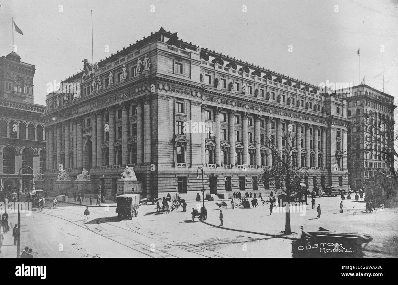 The New York Custom House America 21 September 1920 Stock Photo Alamy