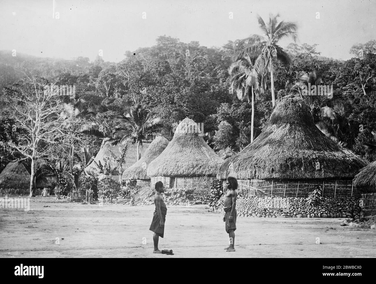 Duke And Duchess Of York S Tour To Visit Suva Fiji Islands A Typical Native Village 11 February 1927 Stock Photo Alamy