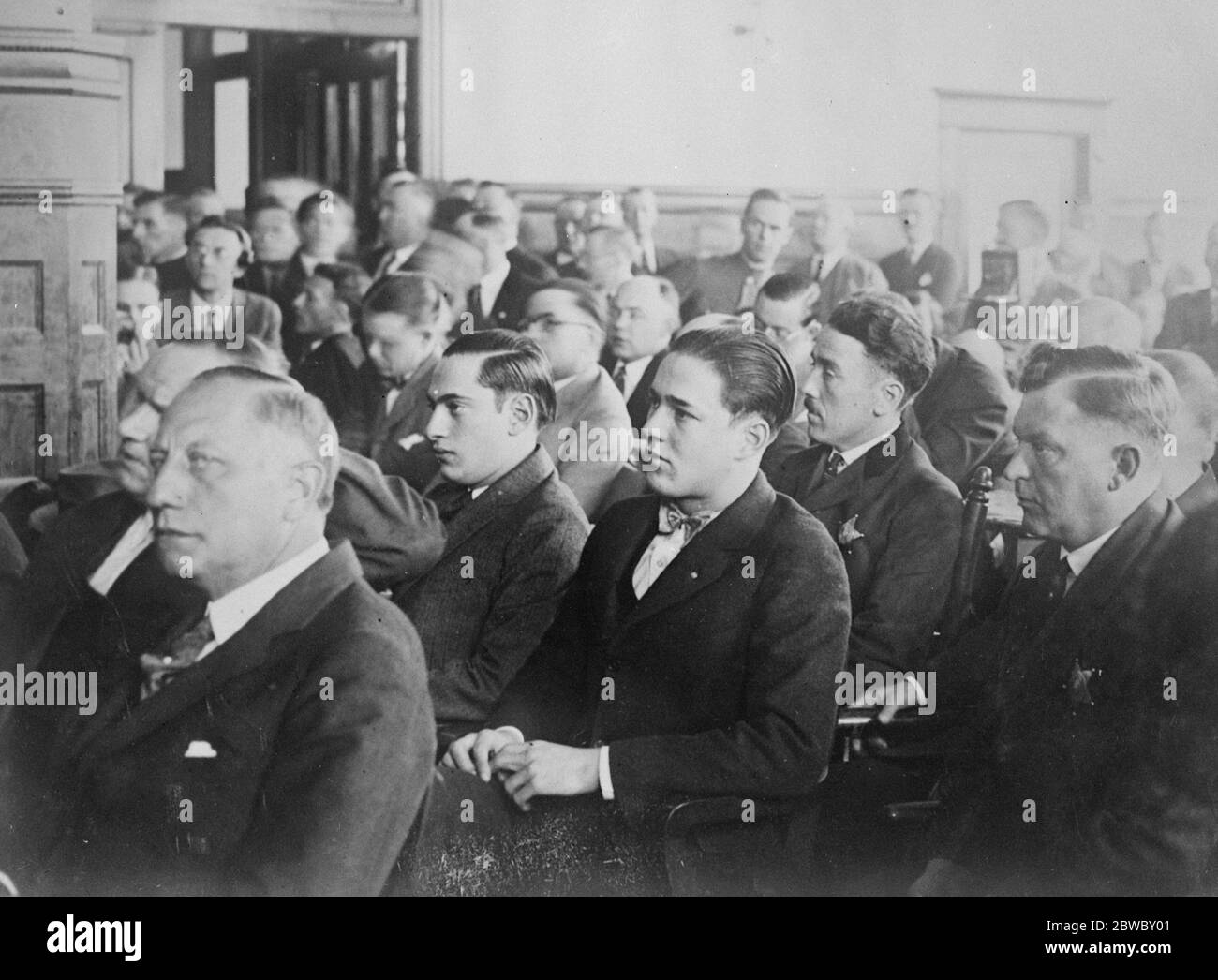 Leopold and Loeb murder court scenes as sentence is passed . Hundreds of people surrounded the Criminal court building in Chicago when Judge Cavalry pronounced his sentence of 99 years and life upon Nathan Leopold Jnr , and Richard Loeb for the killing of Bobbie Franks . Leopold and Loeb photographed while the sentence was being pronounced . 20 September 1924 Stock Photo