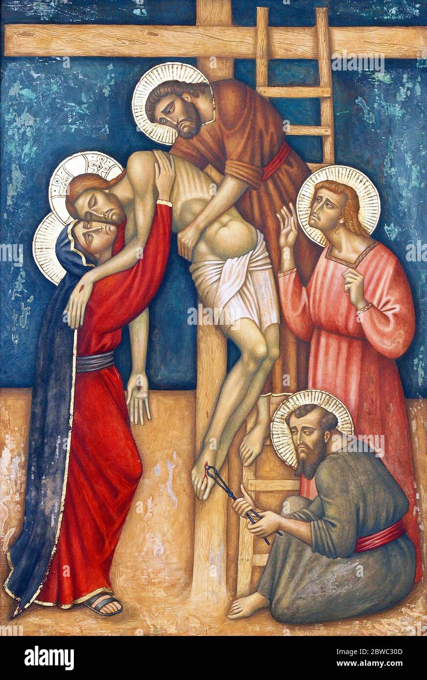 13th Stations Of The Cross Jesus Body Is Removed From The Cross Parish Church Of The Precious Blood Of Jesus In Zagreb Croatia Stock Photo Alamy