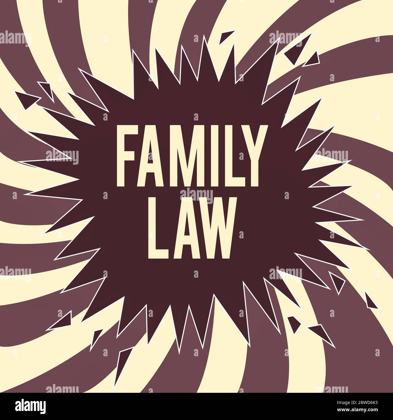 Conceptual Hand Writing Showing Family Law Concept Meaning Body Of Legal Practice Dealing With Inside Household Matters Exploding Cracking Breaking S Stock Photo Alamy