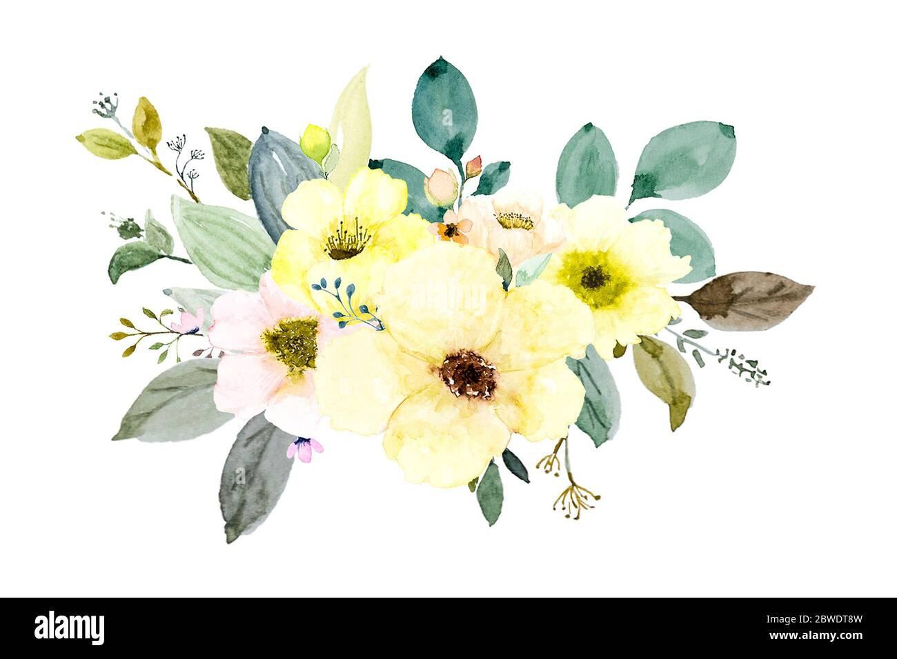 floral invitations Eucalyptus Wedding Watercolor Wreath /& Bouquets Anemone greeting card Helleborus Flowers Hand painted clipart