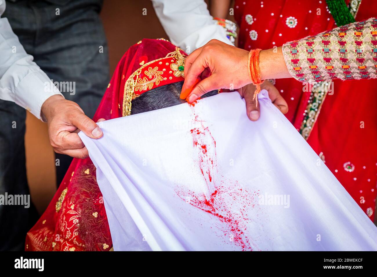 nepali wedding high resolution stock photography and images alamy https www alamy com the groom applies sindoor or vermilion to the bride as a symbol of marriage according to hindu rituals hindu marriage wedding ceremonynepali wedding image359896335 html