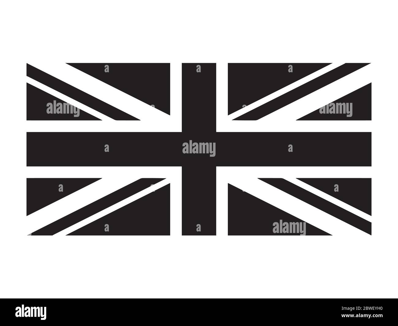 united kingdom flag union jack. uk flag black and white. country national  emblem banner. monochrome grayscale eps vector file stock vector image &  art - alamy  alamy