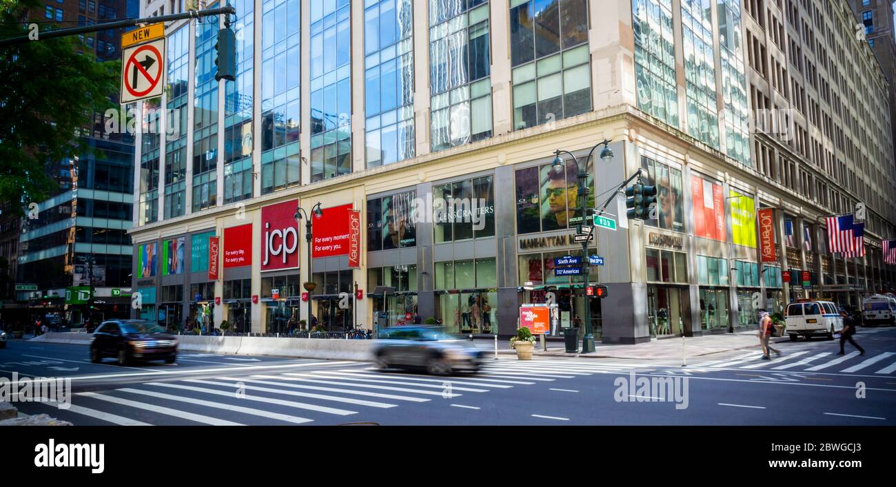 The JCPenney store in Herald Square in Midtown in New York on Tuesday, May 25, 2020.  (©Richard B. Levine) Stock Photo