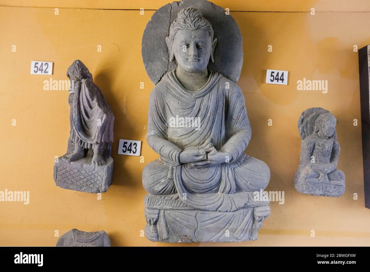 Stone Carving Gandhara Buddha Statue Swat Museum Mingora Swat Khyber Pakhtunkhwa Province Pakistan South Asia Asia Stock Photo Alamy
