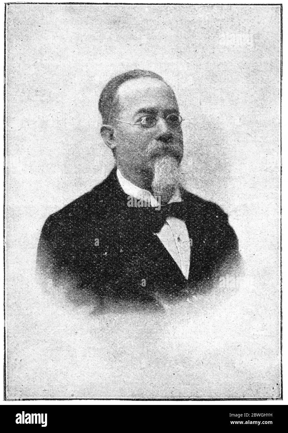 Portrait Of Cesare Lombroso An Italian Criminologist Physician