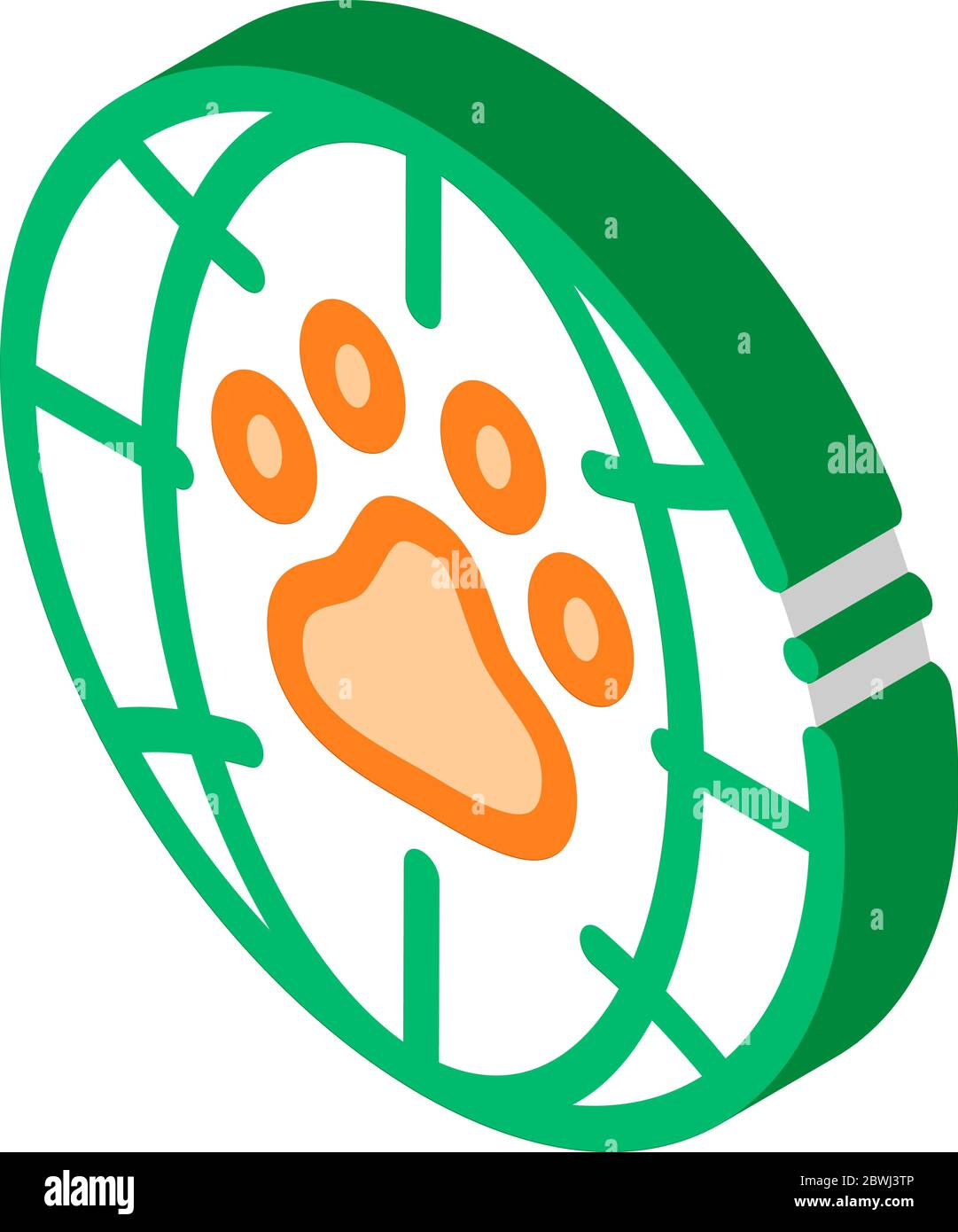 Animal Trail Planet Earth isometric icon vector illustration Stock Vector