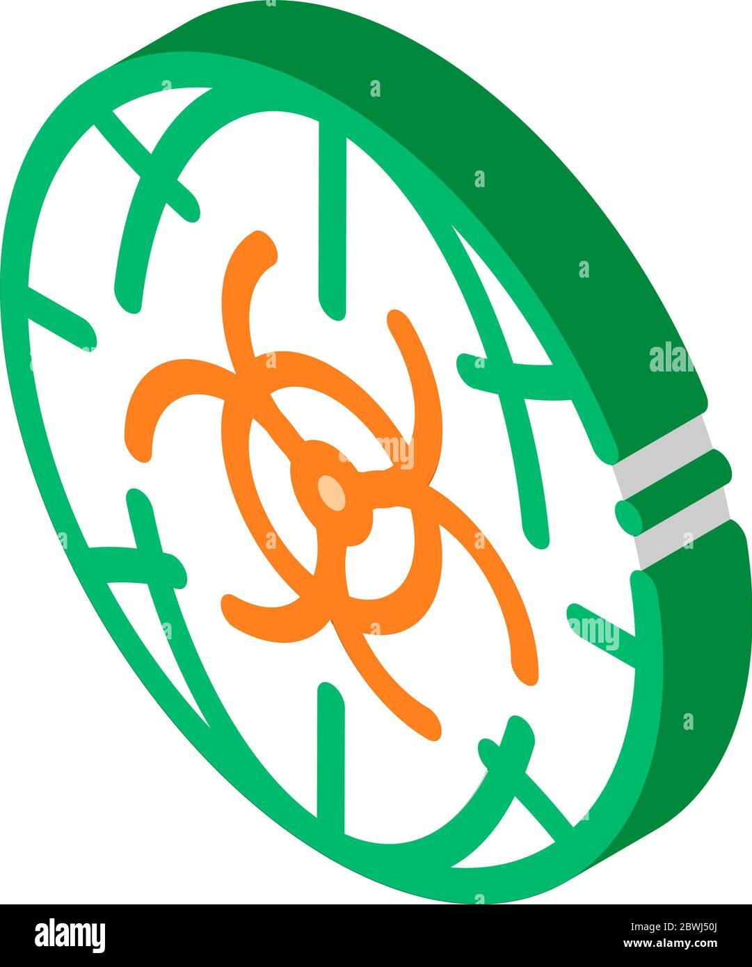Biohazard Symbol Problem isometric icon vector illustration Stock Vector