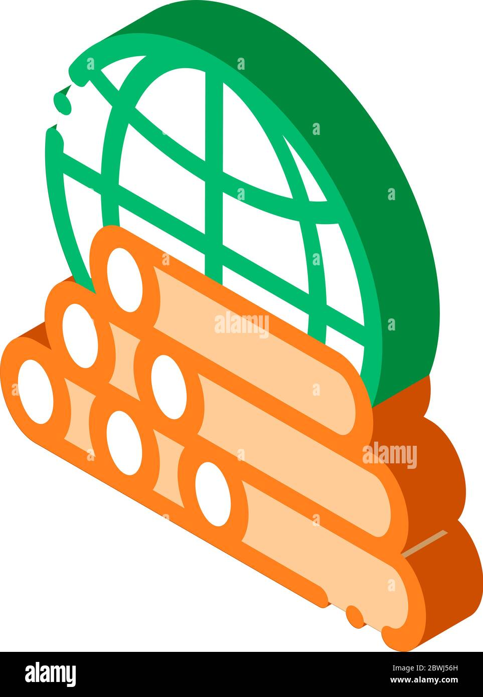 Tubes Planet Earth Problem isometric icon vector illustration Stock Vector