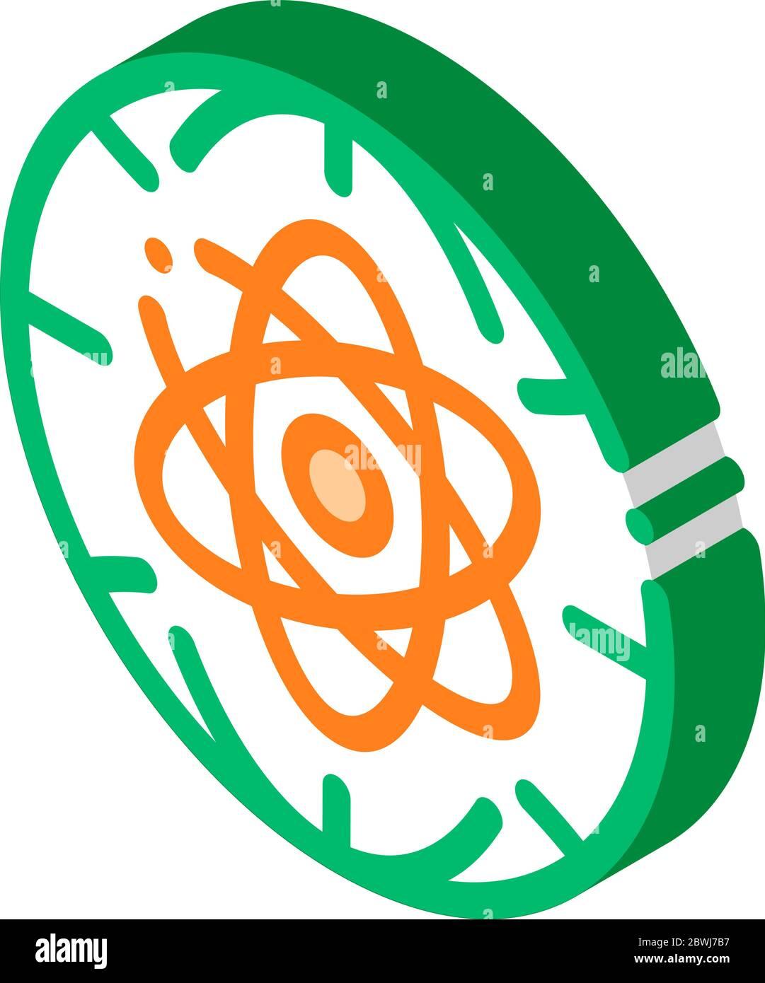 Atom Planet Earth Problem isometric icon vector illustration Stock Vector