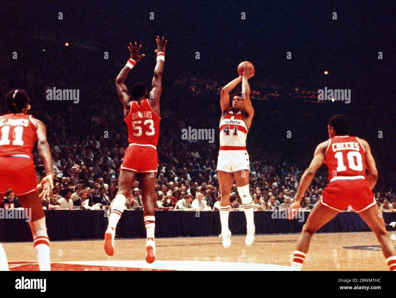 In This Undated File Photo Washington Bullets Now Washington Wizards Center Wes Unseld 41 In Game