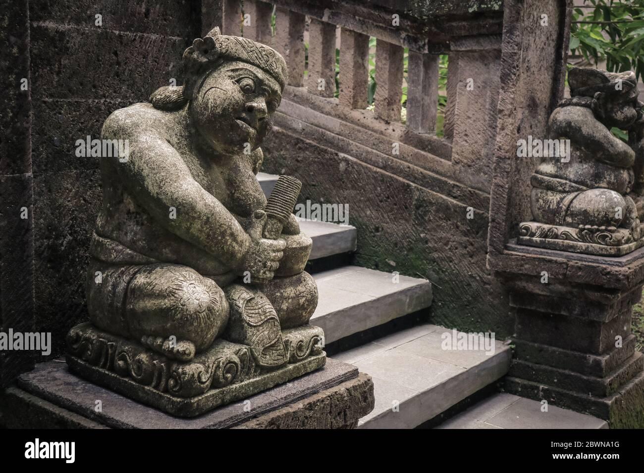 Bali Girl Head Stone Sculpture