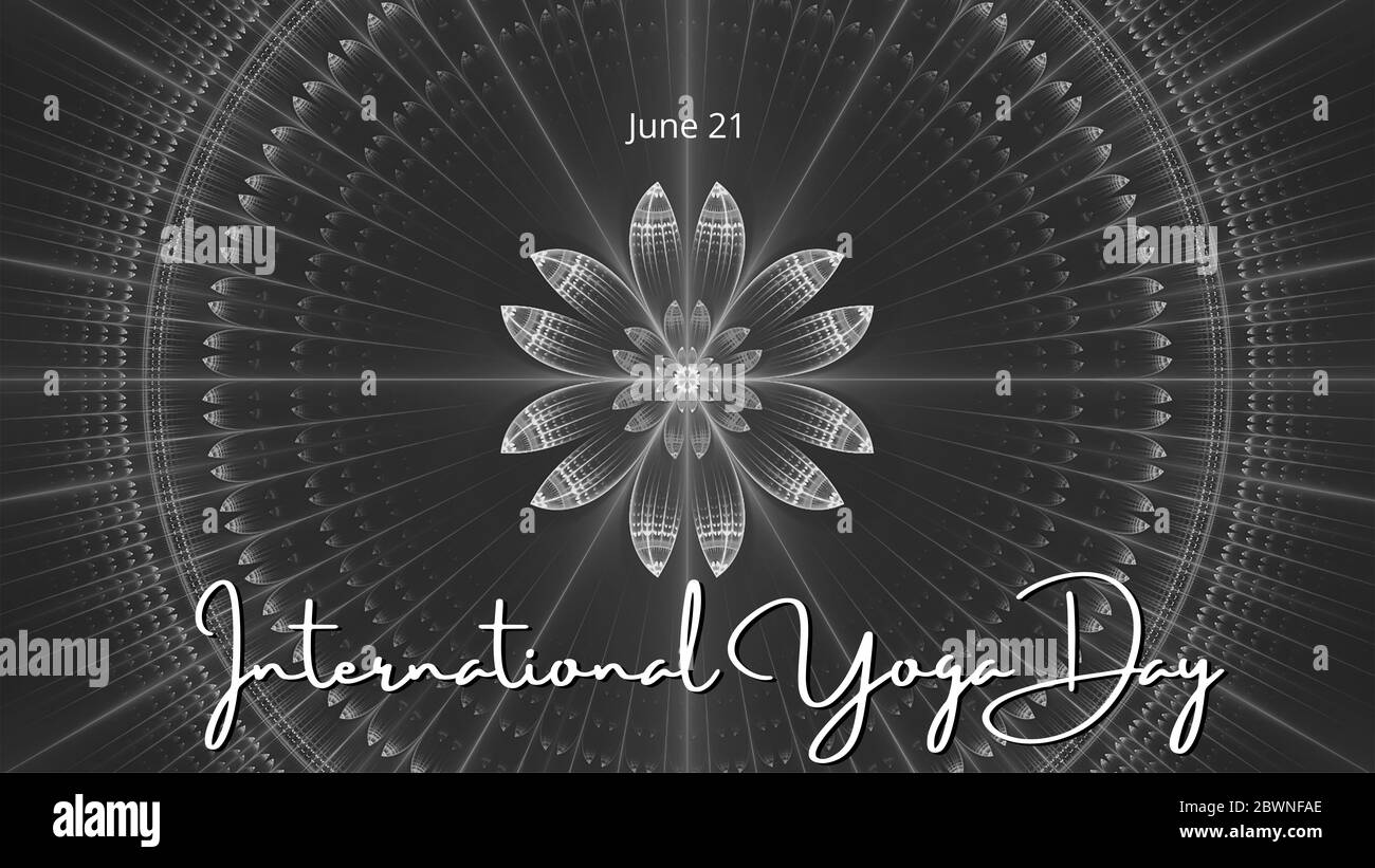 Yoga Banner Black And White Stock Photos Images Alamy