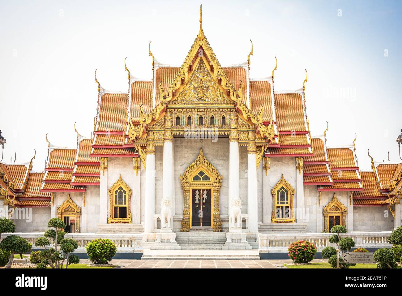 wat benchamabophit Tempel bangkok thailand Stock Photo