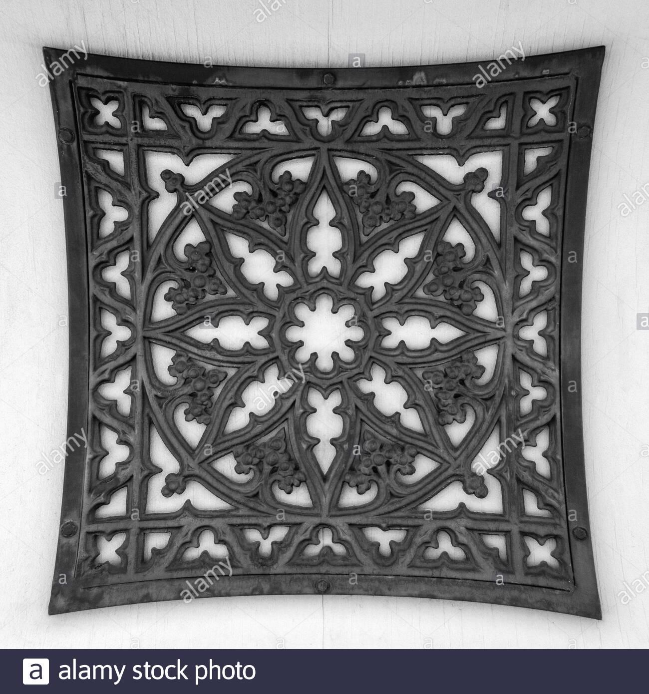 Image of: Large Square Black Wrought Iron Wall Decor Stock Photo Alamy