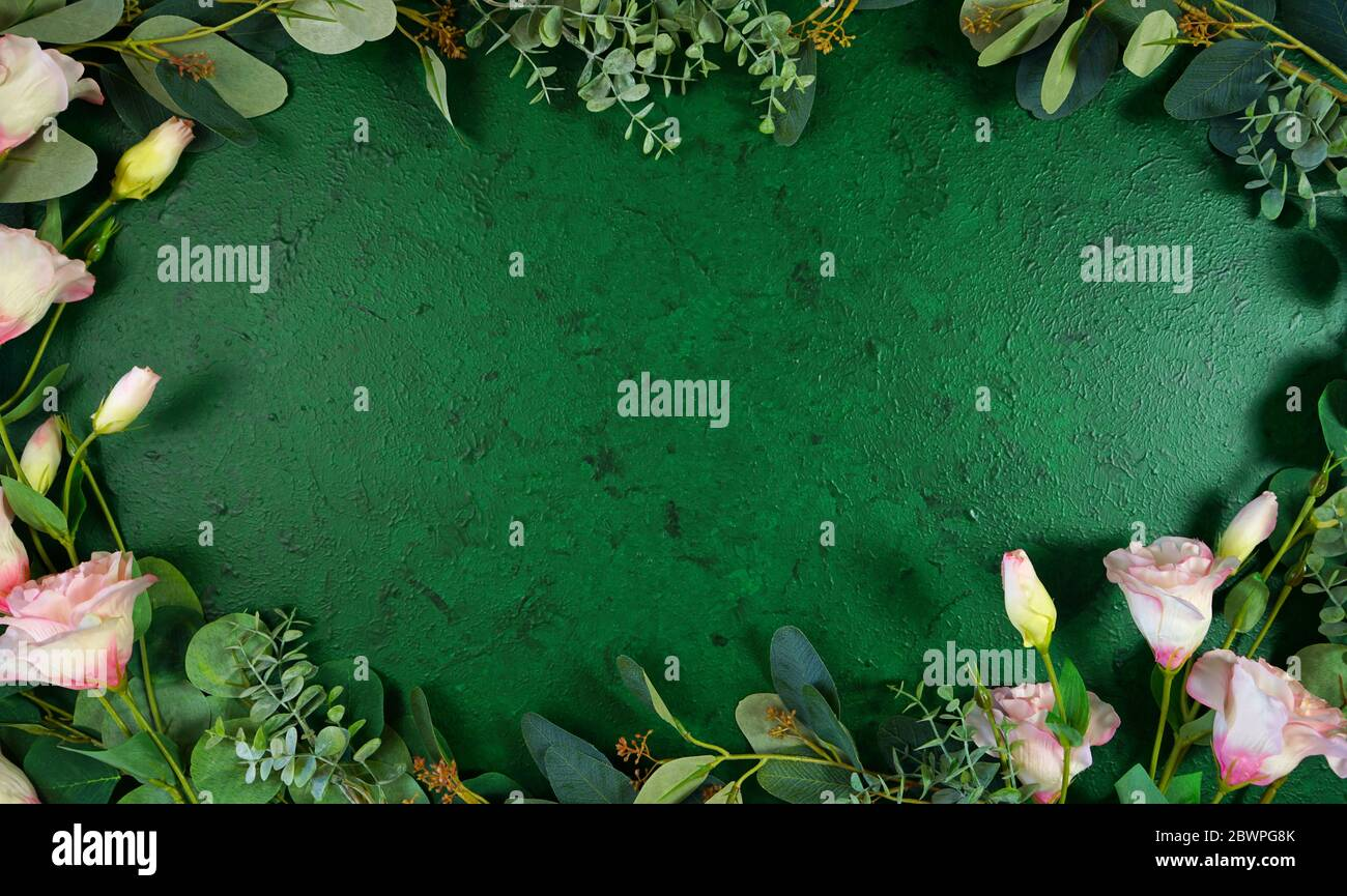 page 4 aesthetic wallpaper high resolution stock photography and images alamy https www alamy com dark green aesthetic nature theme textured background with floral and greenery decorated border and negative copy space image360069491 html