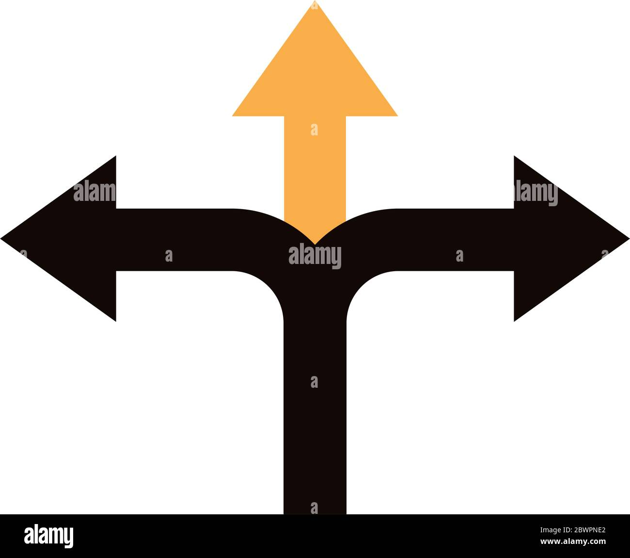 left and right arrows navigations guide line style Stock Vector