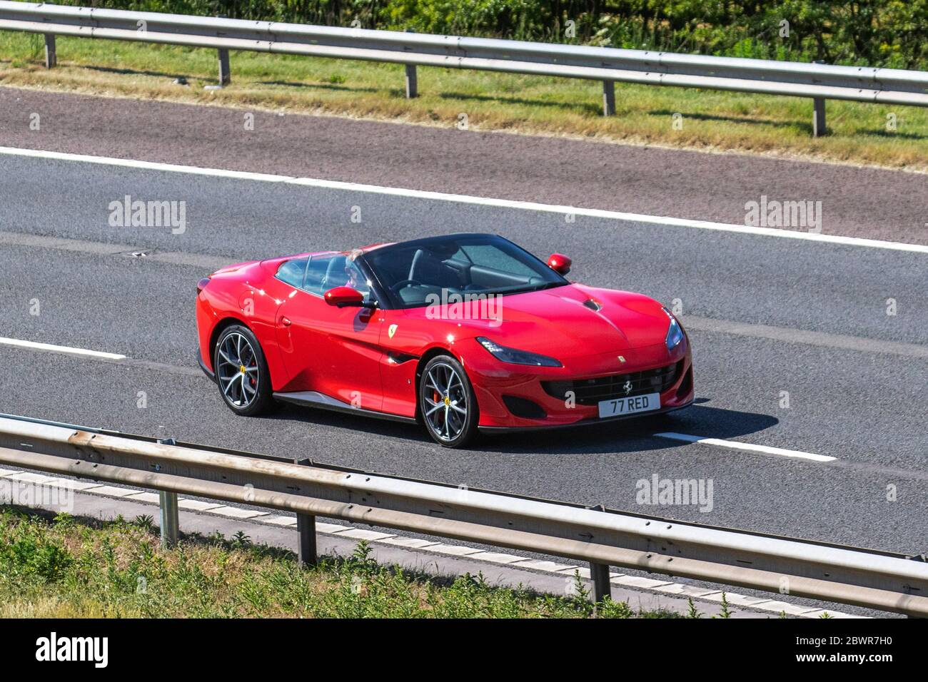 2020 Red Ferrari Portofino S A Vehicular Traffic Moving Vehicles Convertibles Hard Top Convertible Open Topped Roadster