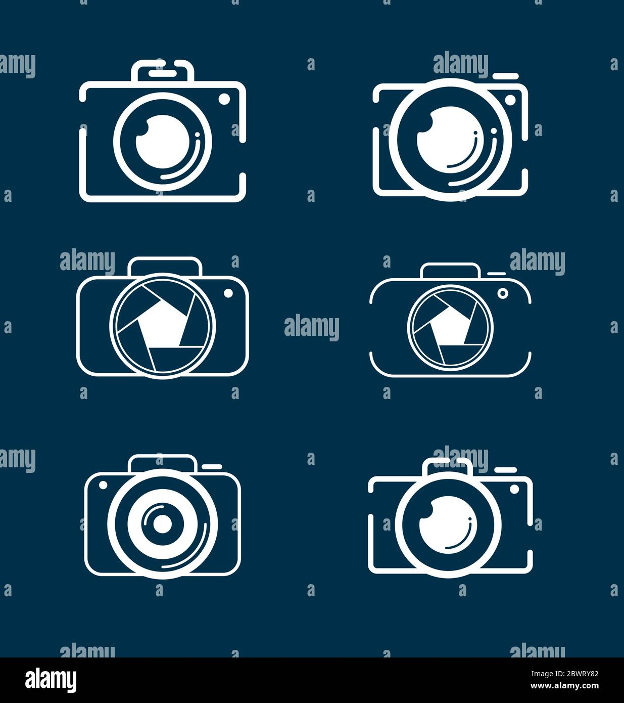 Camera icons set for photographers. Photography camera icon set vector eps Stock Vector