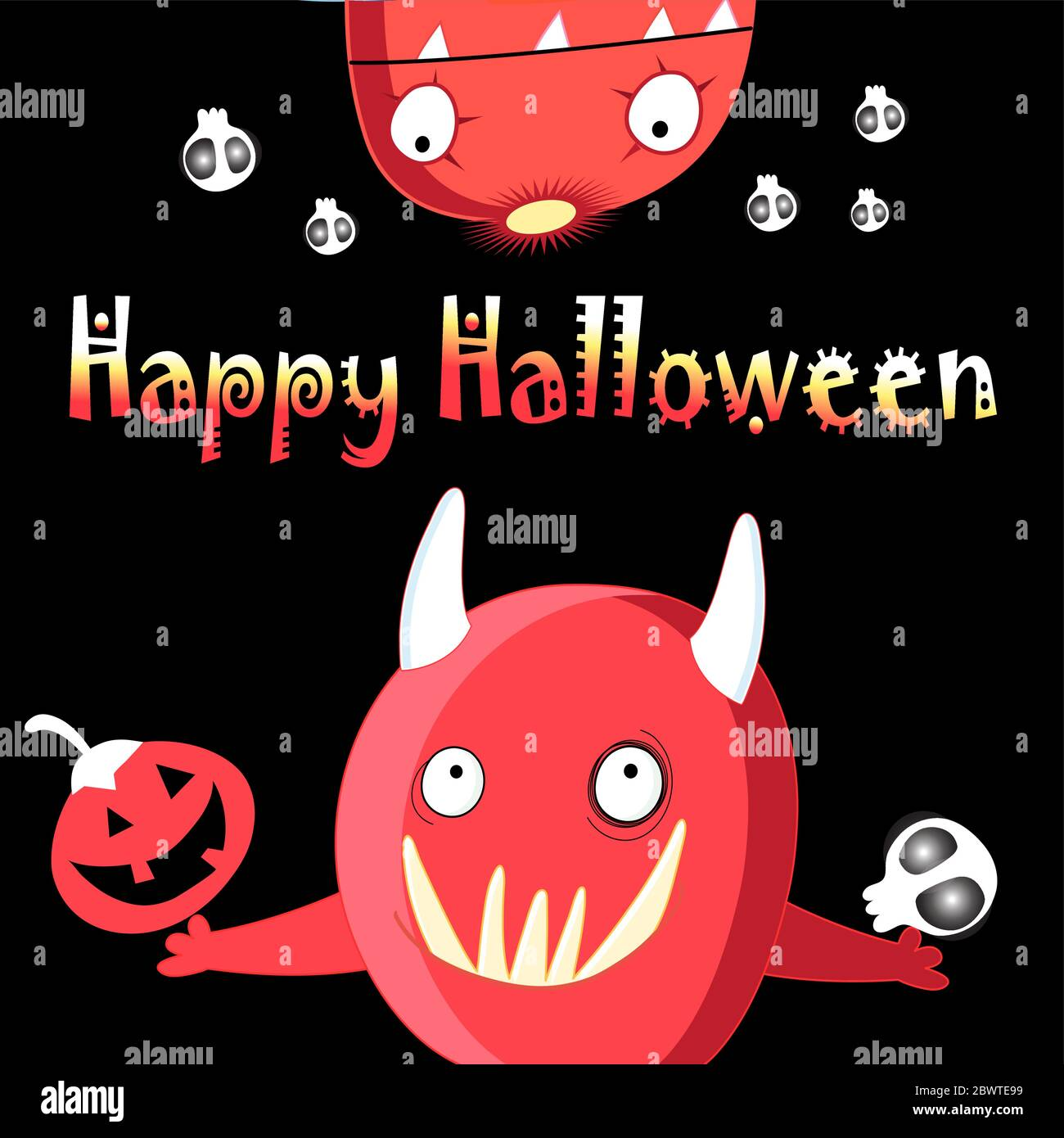 Bright Vector Illustration Of Monsters Funny For Halloween Stock Vector Image Art Alamy