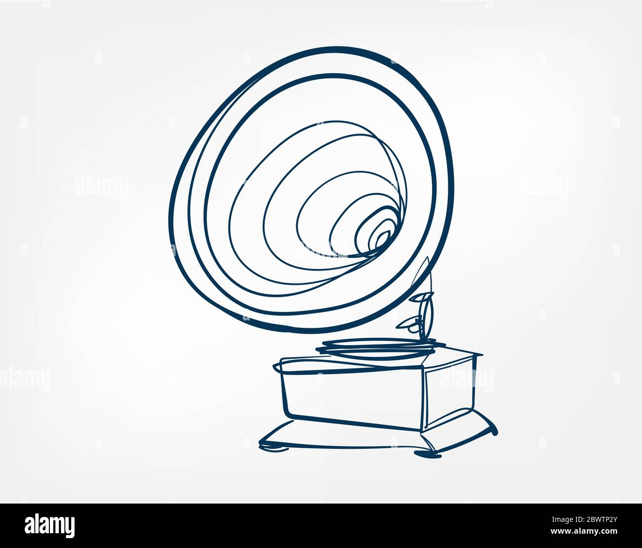 gramophone vector art line isolated doodle stock vector image art alamy alamy