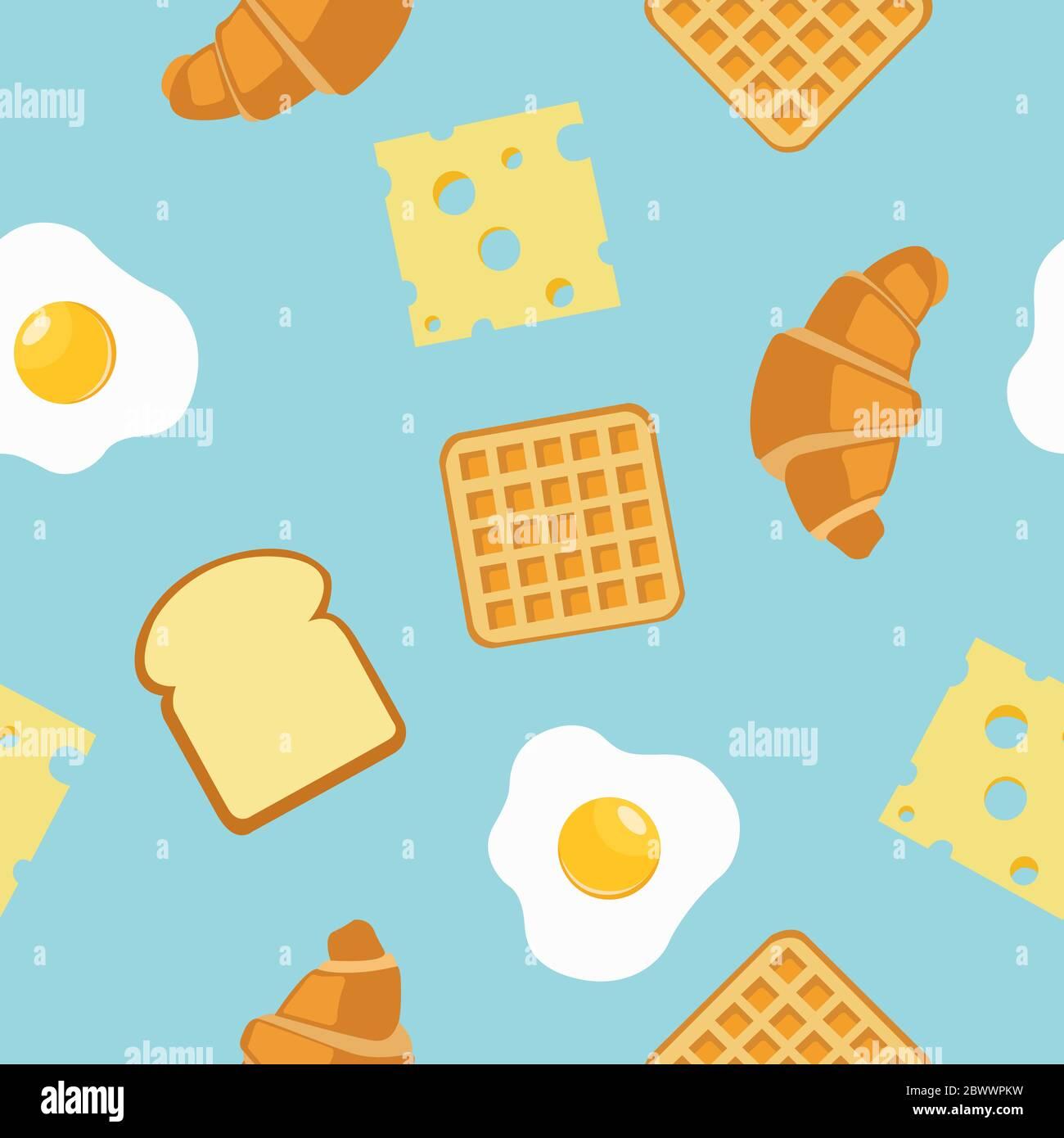 Breakfast Seamless Pattern Background Or Wallpaper Stock Vector Image Art Alamy