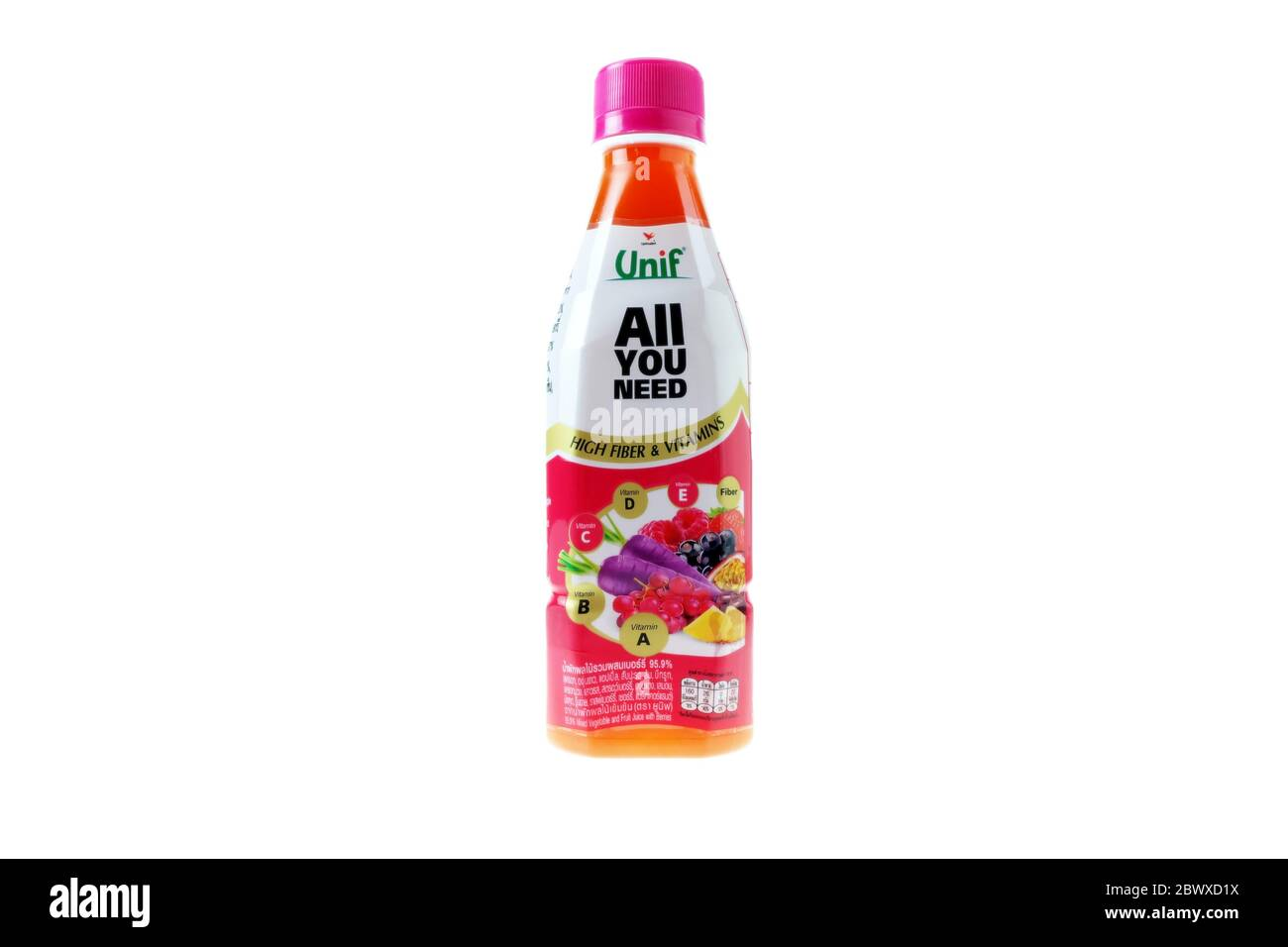 Bangkok Thailand April 22 2020 Unif Brand Mixed Vegetable And Fruit Juice With Berries Distributed By Uni President Thailand Co Ltd That Was E Stock Photo Alamy