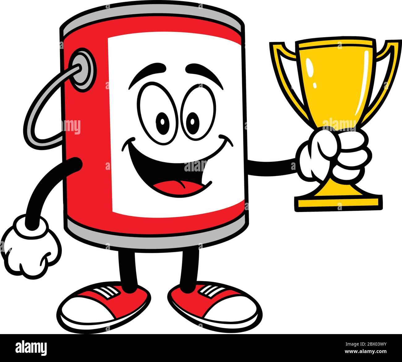 Paint Bucket Mascot With Trophy A Cartoon Illustration Of A Paint Bucket Mascot With A Trophy Stock Vector Image Art Alamy
