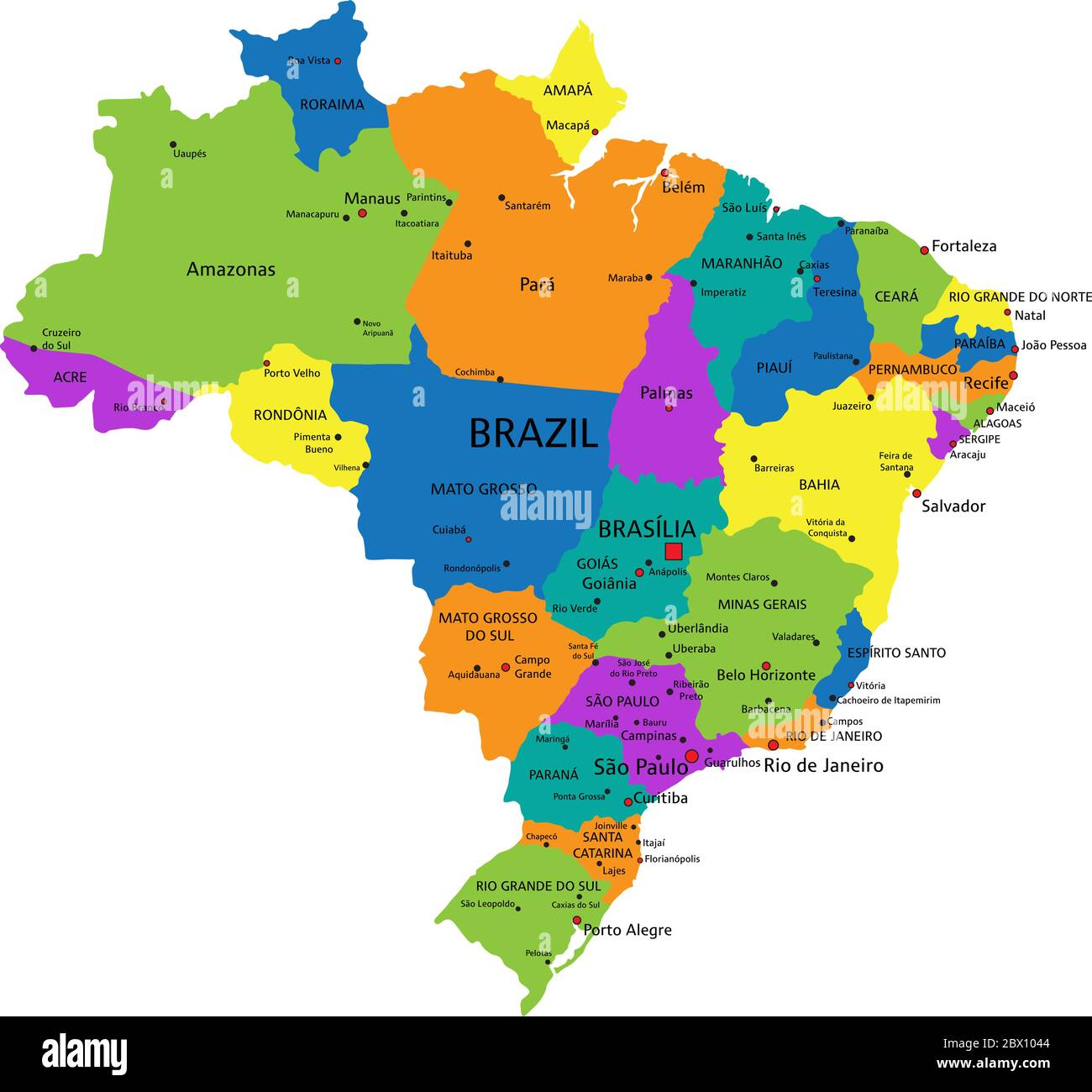 Image of: Brazil Political Map High Resolution Stock Photography And Images Alamy