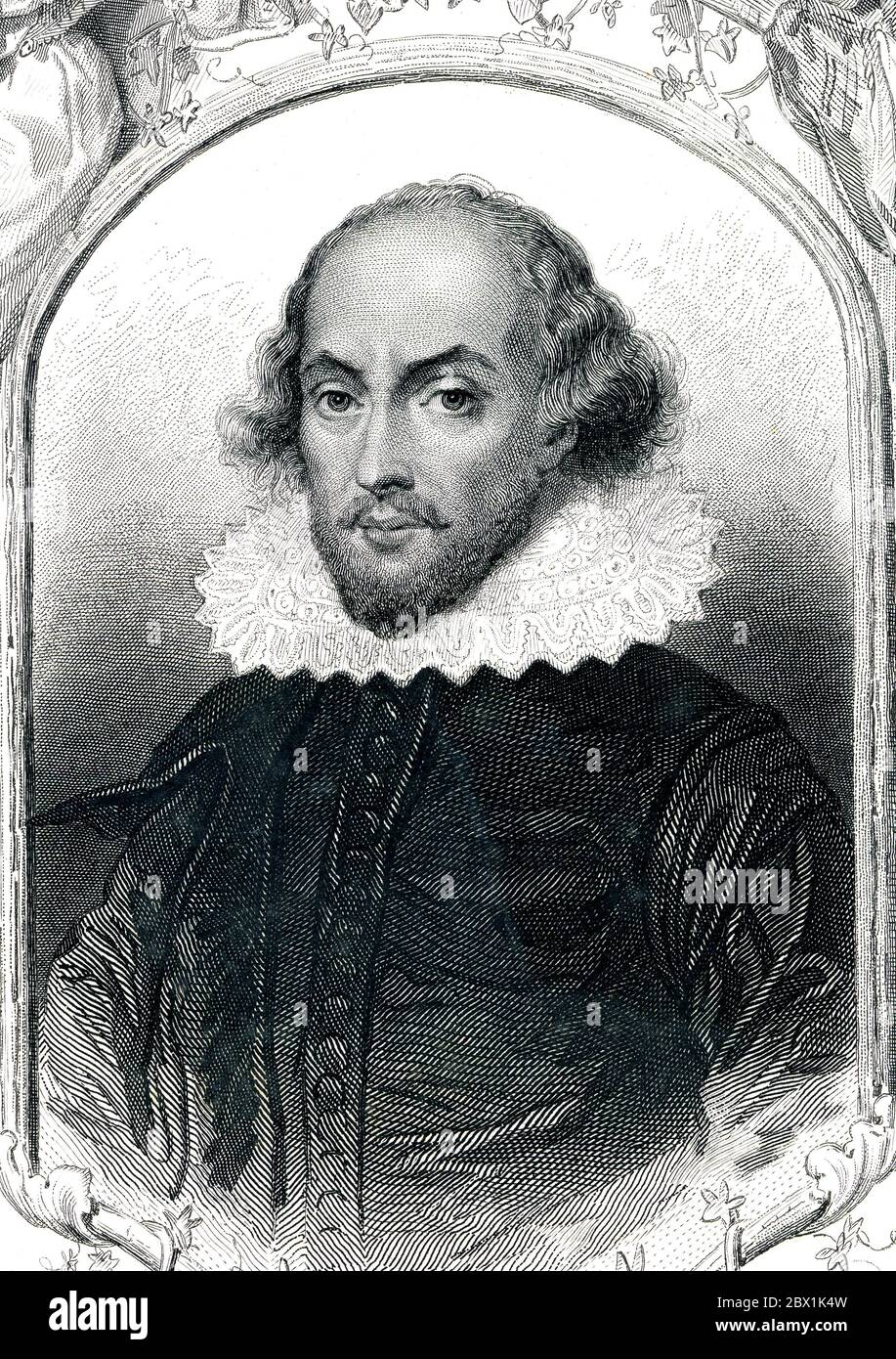 William Shakespeare, 1564-1616, English poet and playwright, 1850, France Stock Photo