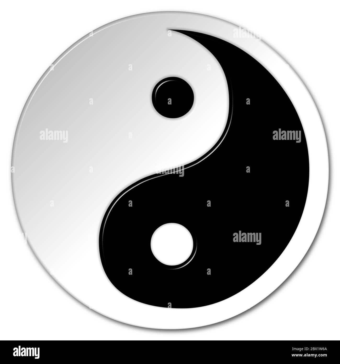 White paste and copy yang black symbol Cool Symbols